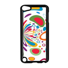Light Circle Background Points Apple Ipod Touch 5 Case (black)