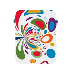 Light Circle Background Points Apple Ipad 2/3/4 Protective Soft Cases