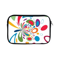 Light Circle Background Points Apple Ipad Mini Zipper Cases