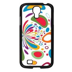Light Circle Background Points Samsung Galaxy S4 I9500/ I9505 Case (black)