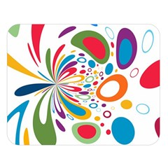 Light Circle Background Points Double Sided Flano Blanket (large)