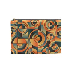 Background Abstract Orange Blue Cosmetic Bag (medium)