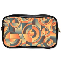 Background Abstract Orange Blue Toiletries Bags