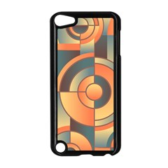 Background Abstract Orange Blue Apple Ipod Touch 5 Case (black)