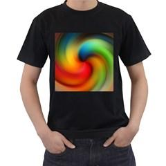 Abstract Spiral Art Creativity Men s T Shirt (black)