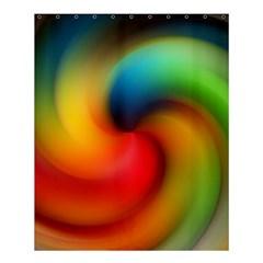 Abstract Spiral Art Creativity Shower Curtain 60  X 72  (medium)