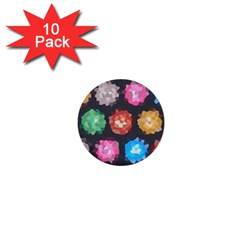 Background Colorful Abstract 1  Mini Buttons (10 Pack)