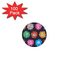 Background Colorful Abstract 1  Mini Buttons (100 Pack)