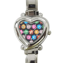 Background Colorful Abstract Heart Italian Charm Watch