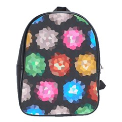 Background Colorful Abstract School Bag (large)