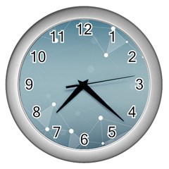 Background Abstract Line Wall Clocks (silver)