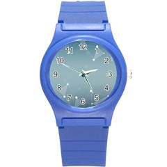 Background Abstract Line Round Plastic Sport Watch (s)