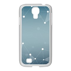 Background Abstract Line Samsung Galaxy S4 I9500/ I9505 Case (white)