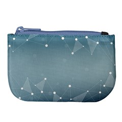 Background Abstract Line Large Coin Purse