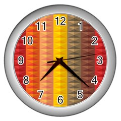 Abstract Pattern Background Wall Clocks (silver)