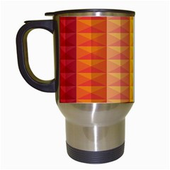 Abstract Pattern Background Travel Mugs (white)
