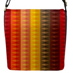 Abstract Pattern Background Flap Messenger Bag (s)