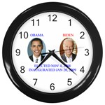 obama biden 2008 Wall Clock (Black)