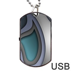 Abstract Background Abstraction Dog Tag Usb Flash (two Sides)