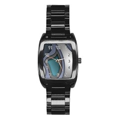 Abstract Background Abstraction Stainless Steel Barrel Watch