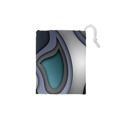 Abstract Background Abstraction Drawstring Pouches (xs)