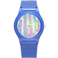 Background Abstract Pastels Round Plastic Sport Watch (s)