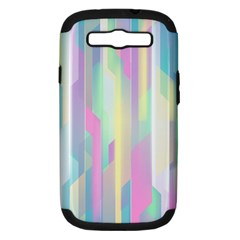 Background Abstract Pastels Samsung Galaxy S Iii Hardshell Case (pc+silicone)