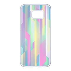 Background Abstract Pastels Samsung Galaxy S7 Edge White Seamless Case by Nexatart