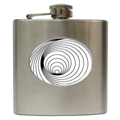 Spiral Eddy Route Symbol Bent Hip Flask (6 Oz)