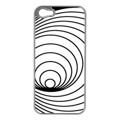 Spiral Eddy Route Symbol Bent Apple Iphone 5 Case (silver)