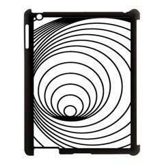 Spiral Eddy Route Symbol Bent Apple Ipad 3/4 Case (black)