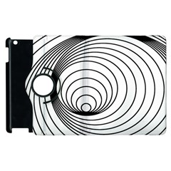 Spiral Eddy Route Symbol Bent Apple Ipad 3/4 Flip 360 Case