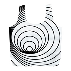 Spiral Eddy Route Symbol Bent Full Print Recycle Bags (l)