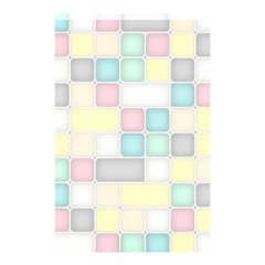 Background Abstract Pastels Square Shower Curtain 48  X 72  (small)  by Nexatart