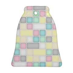 Background Abstract Pastels Square Bell Ornament (two Sides)