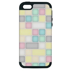 Background Abstract Pastels Square Apple Iphone 5 Hardshell Case (pc+silicone)