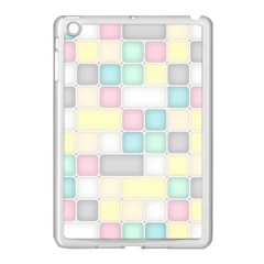Background Abstract Pastels Square Apple Ipad Mini Case (white) by Nexatart