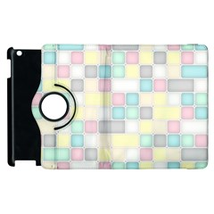 Background Abstract Pastels Square Apple Ipad 2 Flip 360 Case
