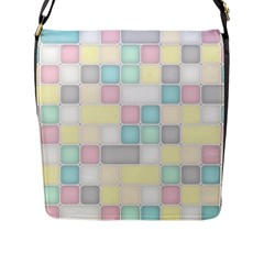 Background Abstract Pastels Square Flap Messenger Bag (l)