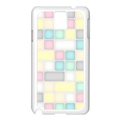 Background Abstract Pastels Square Samsung Galaxy Note 3 N9005 Case (white)
