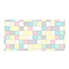 Background Abstract Pastels Square Satin Wrap