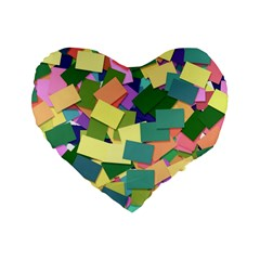 List Post It Note Memory Standard 16  Premium Flano Heart Shape Cushions