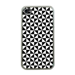 Triangle Pattern Simple Triangular Apple Iphone 4 Case (clear)