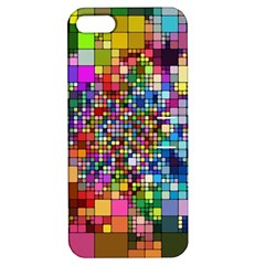 Abstract Squares Arrangement Apple Iphone 5 Hardshell Case With Stand