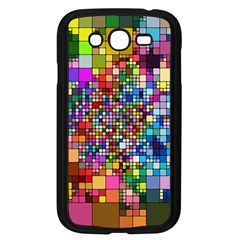 Abstract Squares Arrangement Samsung Galaxy Grand Duos I9082 Case (black)