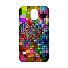 Abstract Squares Arrangement Samsung Galaxy S5 Hardshell Case
