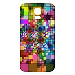 Abstract Squares Arrangement Samsung Galaxy S5 Back Case (white)