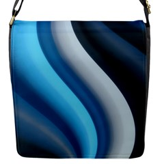Abstract Pattern Lines Wave Flap Messenger Bag (s)