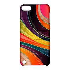 Abstract Colorful Background Wavy Apple Ipod Touch 5 Hardshell Case With Stand