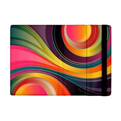 Abstract Colorful Background Wavy Ipad Mini 2 Flip Cases